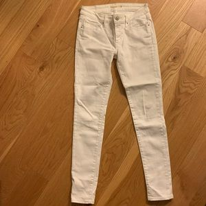 Levi's 711 Skinny White Denim